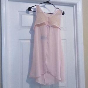 Button Up Pink Dress